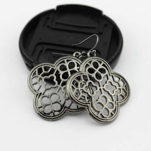 Jewelry - Gunmetal Quarterfoil Clover Earrings